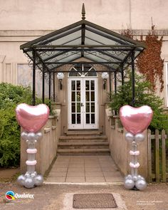 Creating a beautiful entrance, these gorgeous balloon columns will greet all of your guests and invite them to the party of the year!