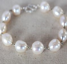 White Baroque Pearl Bridal Jewelry Set  White Pearl by karioi, $205.00 http://etsy.com/shop/karioi