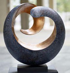 """Tranquility"" Modern Wood Sculpture, Stohans Showcase"