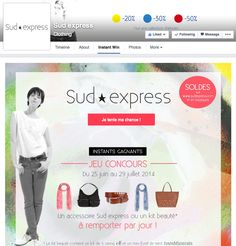 Sud Express Instant Win Facebook Contest #Socialshaker