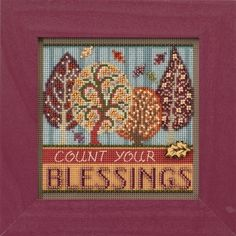 Mill Hill Blessings Cross Stitch Kit - Button & Bead Autumn Series