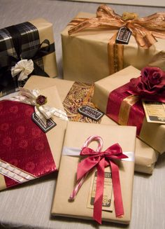 Xmas gifts with pretty wrappings.