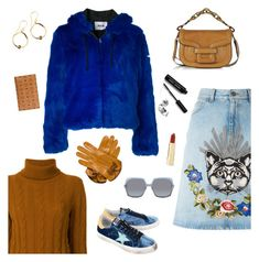 """""""Outfit of the Day"""" by sproetje ❤ liked on Polyvore featuring MSGM, Gucci, The Gigi, Golden Goose, Pierre Hardy, Marc Jacobs, Axiology, MCM, Bobbi Brown Cosmetics and girlpower"""