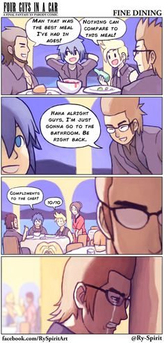 FFXV - Fine Dining by Ry-Spirit.deviantart.com on @DeviantArt