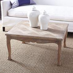 Parquet coffee table, via @sarahsarna.