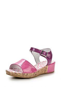 Яркие сандалии Kakadu выполнены из искусственной лаковой кожи розового цвета. Детали: застежка на пряжку, небольшая платформа с отделкой под пробку, внутренняя отделка и стелька из натуральной кожи. http://j.mp/1nlA9zn