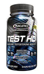 MuscleTech Test HD, Hardcore Testosterone Booster, 90 Rapid-Release Caplets