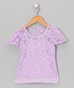 Take a look at this Lavender Short-Sleeve Lace Tee & Camisole - Toddler & Girls by Share n' Smiles on #zulily today!
