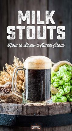 Sweet Stouts: The Creamy Confection Better Known As Milk Stout - How to Brew a . - Sweet Stouts: The Creamy Confection Better Known As Milk Stout – How to Brew a Milk Stout – # - Beer Brewing Kits, Brewing Recipes, Homebrew Recipes, Beer Recipes, Coffee Recipes, Gourmet Recipes, Gourmet Foods, Beer Brewery, Beer Label Design