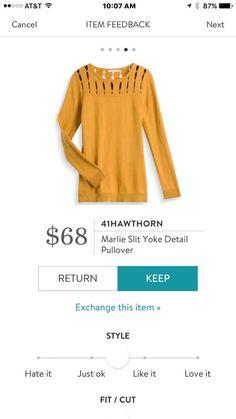 41Hawthorn Marlie Slit Yoke Detail Pullover