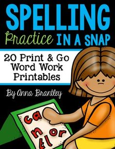 Need to spice up your word work stations and/or spelling practice in your classroom? This packet includes 20 print and go activities that are sure to keep your students engaged and having fun while working with words!