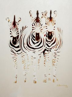 Zebra Family Painting by Dave Sherwood-Adcock - Zebra Family Fine Art Prints and Posters for Sale