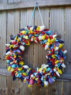 Balloon Wreath. $30.00, via Etsy.
