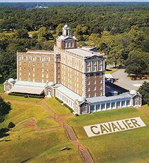 The Cavalier Hotel, Virginia Beach - they said it's haunted.  I wouldn't doubt it.