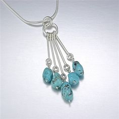 Lovely Utopia Turquoise Drop Necklace by Vinosus Jewelry