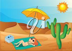 tanning in the desert
