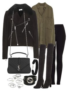 """Untitled #2914"" by theeuropeancloset on Polyvore featuring Topshop, Stuart Weitzman, Yves Saint Laurent, She.Rise, Gucci and Candie's"