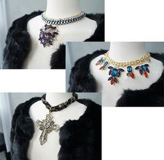 glam statement necklaces for your winter holiday. glam2gal@gmail.com