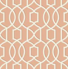 "Symetrie Quantum 33' x 20.5"" Trellis Wallpaper"