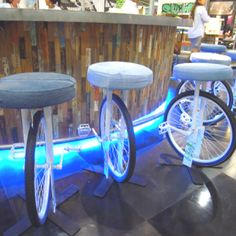 Unicycle Bar Stool