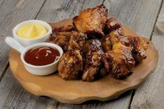 Platter of chicken wings and legs