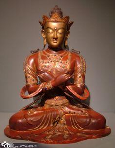 Serre-livres en st/éatite fait main en forme de statue de Bouddha en m/éditation