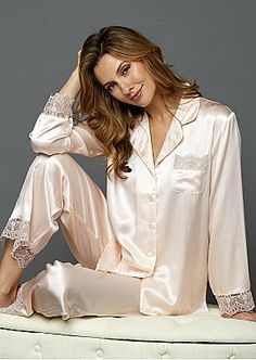 Silk Lingerie - Luxury Silk Underwear & Sleepwear for Women Satin Pyjama Set, Satin Pajamas, Pyjamas, Pajama Set, Pjs, Pajamas For Teens, Pajamas Women, Silk Underwear, Olivia Von Halle