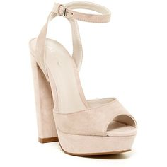 Aldo Falsone Pump (120 RON) ❤ liked on Polyvore featuring shoes, pumps, light pink, high heel platform pumps, open toe high heel shoes, high heeled footwear, aldo pumps and aldo