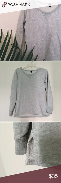 J. Crew sweater Light gray sweater. Good condition. No flaws❌NO TRADES❌reasonable offers considered • only accepted through the offer button❌ J. Crew Sweaters Crew & Scoop Necks