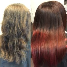 Hair Makeover from a to Red