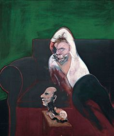 Francis Bacon (British, Reclining Man with Sculpture, Oil on canvas, 165 × 143 cm. Francis Bacon, Max Ernst, Museum Of Contemporary Art, Modern Art, Contemporary Paintings, Michel Leiris, Karl Schmidt Rottluff, James Ensor, Colors
