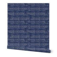 Indigo Lines Wallpaper Shibori Stitches by twigged Navy | Etsy