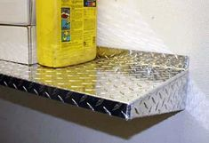 Car Guy Garage: 4 foot Diamond Plate Shelf