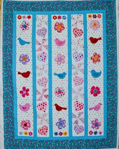Quilt  Applique Baby  So Tweet Sweet Applique by KTMaesEclecticMix, $145.00