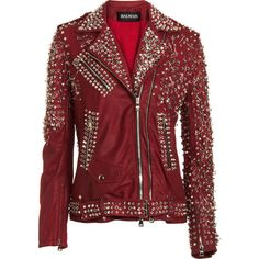 Balmain S/S 2011 Safety Pins Leather Jacket #Balmain