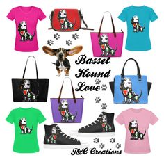 """""""Basset Hound Love"""" by jnccreations ❤ liked on Polyvore"""