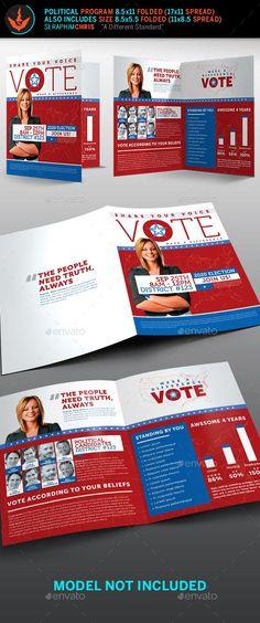 Political Election Tri-Fold Brochure Template Pinterest Tri fold - political brochure