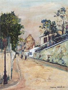 Norvins street near Montmartre - Maurice Utrillo, unknown date