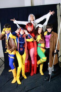 X-Men group Cosplay X Men Costumes, Group Costumes, Cool Costumes, Cosplay Costumes, Halloween Costumes, Costume Ideas, Xmen Cosplay, Male Cosplay, Best Cosplay