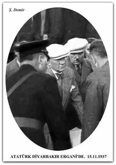 Atatürk Diyarbakır Ergani maden ocağında. 15.11.1937