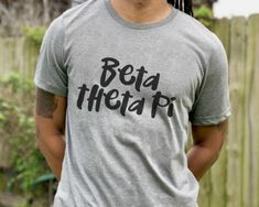 Oh so soft and comfy Bella+Canvas crew neck unisex tee. Sigma Alpha Mu, Sigma Chi, Chi Psi, Delta Chi, Wooden Greek Letters, Theta, Kappa, Bid Day, Bella Canvas