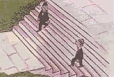 Up and Down the Impossible Steps - http://www.moillusions.com/up-and-down-the-impossible-steps/?utm_source=Pinterest&utm_medium=Social