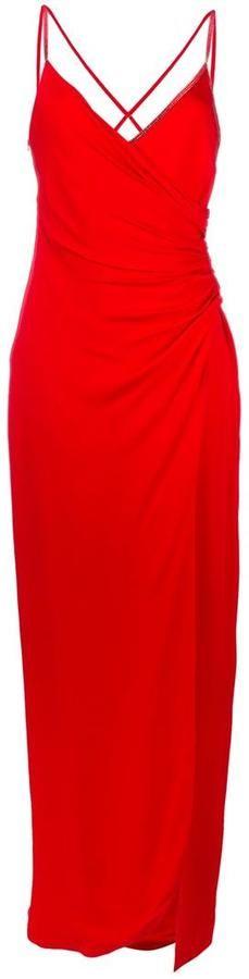 Versace crisscross strap evening dress