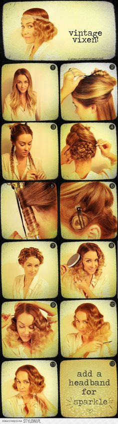 :) Gatsby party hair... But this can be helpful for making a faux-bob for any occasion....