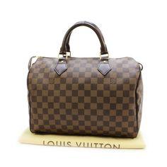 Louis Vuitton Speedy 30 Damier Ebene Handle bags Brown Canvas N41531