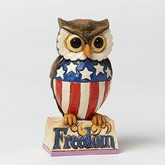 Department-56-Jim-Shore-Heartwood-Creek-Mini-Patriotic-Owl-Figurine-3-5-New