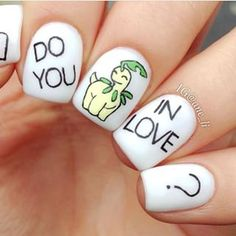 Bayleef: | 23 Awesome Nail Art Designs Inspired By Pokémon
