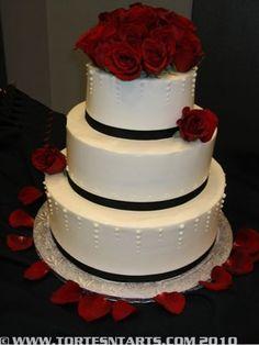 deep red wedding cakes | Deep Red Rose elegant Wedding Cake | 12/28/2013