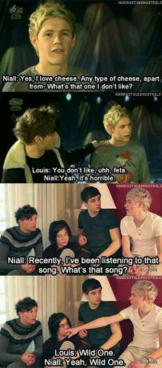 i love how louis has to remember everything for niall