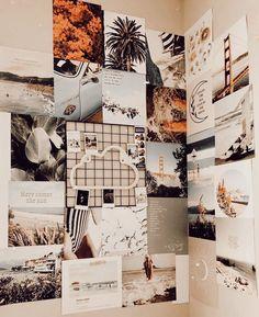 beautiful home decor Cute Bedroom Decor, Teen Room Decor, Room Ideas Bedroom, Bedroom Inspo, Wall Decor, Cute Room Ideas, Bedroom Wall Collage, Indie Room, Aesthetic Room Decor